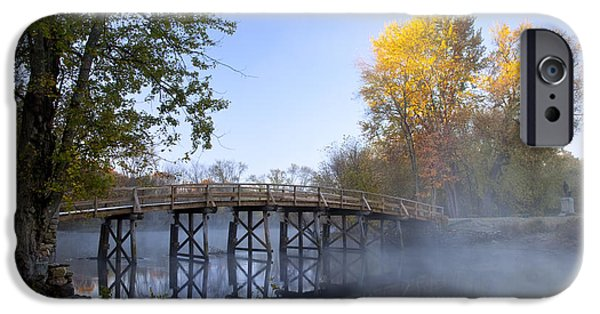 Concord iPhone Cases - Old North Bridge Concord iPhone Case by Brian Jannsen