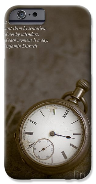 Chronometer iPhone Cases - Old pocket watch iPhone Case by Edward Fielding