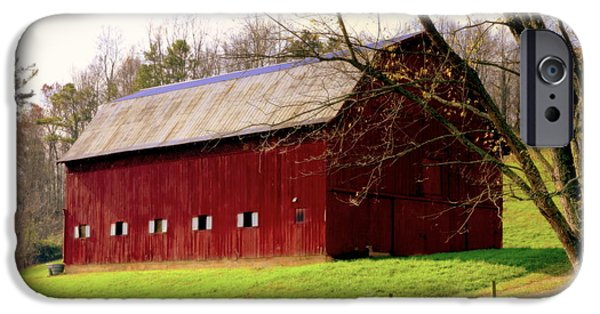 Tennessee Barn iPhone Cases - Old Red iPhone Case by Karen Wiles