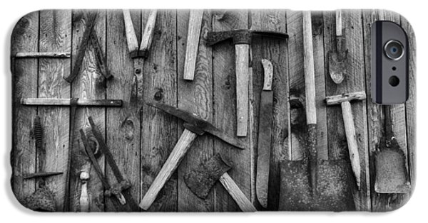 Shed iPhone Cases - Old Tools iPhone Case by Mountain Dreams