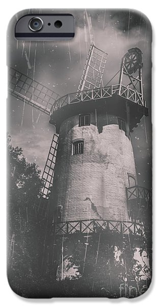 Old Mill Scenes iPhone Cases - Old tower mill building. Historic fine art photo iPhone Case by Ryan Jorgensen