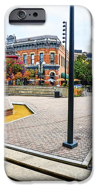 Fort Collins iPhone Cases - Old Town Fort Collins iPhone Case by Keith Ducker