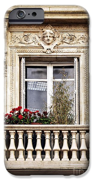 Balcony Photographs iPhone Cases - Old window iPhone Case by Elena Elisseeva