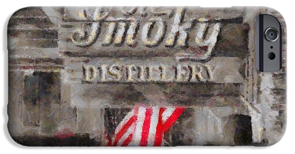 Stars And Stripes Mixed Media iPhone Cases - Ole Smoky Distillery iPhone Case by Dan Sproul