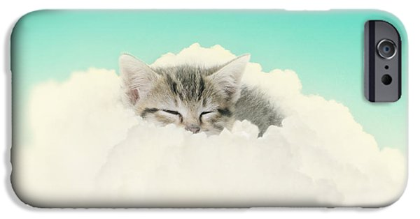 Kitten iPhone Cases - On Cloud Nine iPhone Case by Amy Tyler