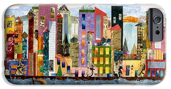 Buildings Mixed Media iPhone Cases - On the Waterfront iPhone Case by Barbara Kinnick