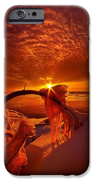 Frozen Lake iPhone Cases - Only a Moment iPhone Case by Phil Koch