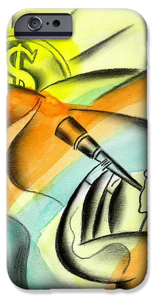 Business Paintings iPhone Cases - Opportunity iPhone Case by Leon Zernitsky