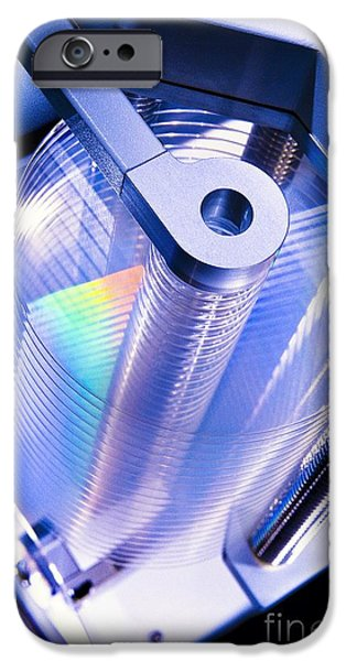 Disc iPhone Cases - Optical Disc Production Machine iPhone Case by Richard Kail