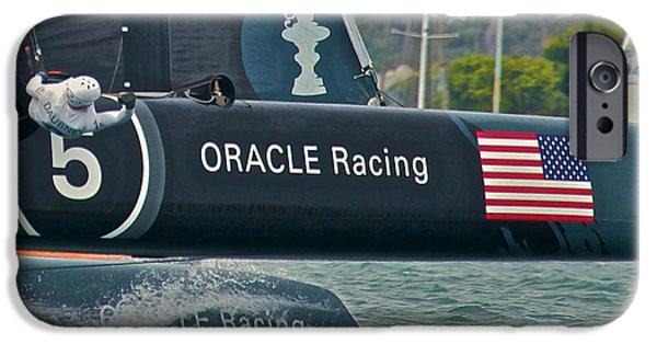 Oracle iPhone Cases - Oracle Racing iPhone Case by Steven Lapkin