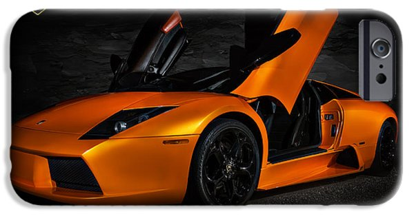 Automotive iPhone Cases - Orange Murcielago iPhone Case by Douglas Pittman