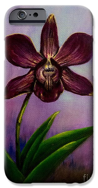 Plant iPhone Cases - Orchid iPhone Case by Zina Stromberg