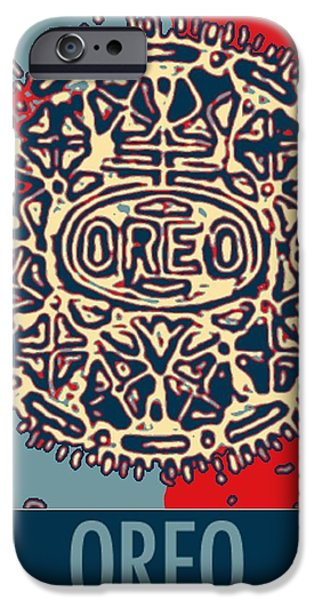 Red Abstract iPhone Cases - OREO in HOPE2 iPhone Case by Rob Hans