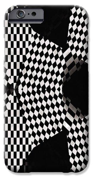 Organic Optical Illusion 4 iPhone Case by The Art of Marsha Charlebois