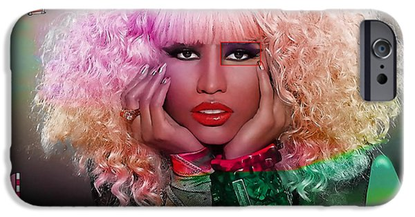 Nicki Minaj iPhone Cases - Original Nicki Minaj  iPhone Case by Marvin Blaine