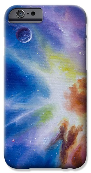 Cosmic Paintings iPhone Cases - Origin Nebula iPhone Case by James Christopher Hill