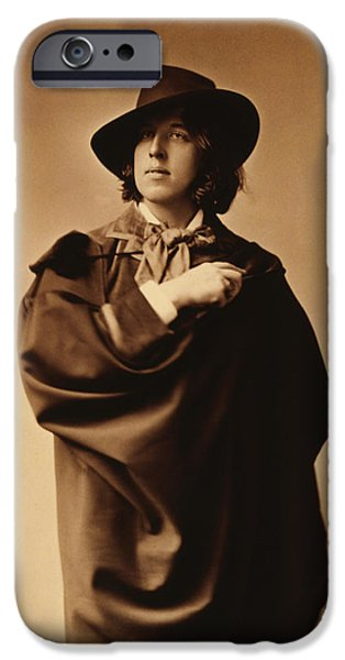Three-quarter Length iPhone Cases - Oscar Wilde iPhone Case by Napoleon Sarony
