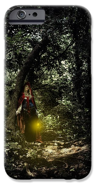 Eerie iPhone Cases - Out for a walk iPhone Case by Innershadows Photography