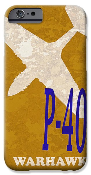 P-51 iPhone Cases - P-40 Warhawk iPhone Case by Mark Rogan