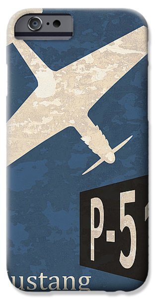 P-51 iPhone Cases - P-51 Mustang iPhone Case by Mark Rogan