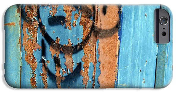 Cora Wandel iPhone Cases - Paint On Metal iPhone Case by Cora Wandel