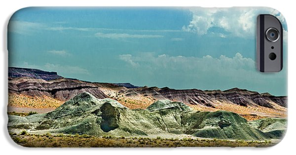 Grand Canyon Mixed Media iPhone Cases - Painted Desert National Park iPhone Case by  Bob and Nadine Johnston