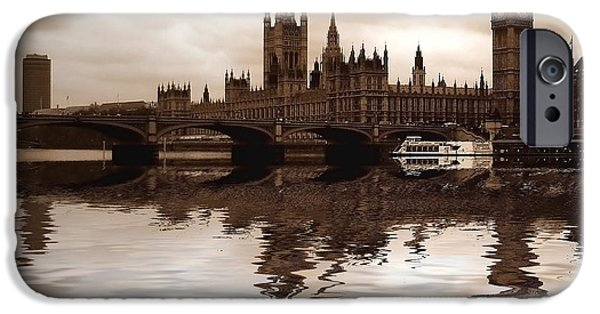 Westminster Palace iPhone Cases - Palace of Westminster iPhone Case by Sharon Lisa Clarke