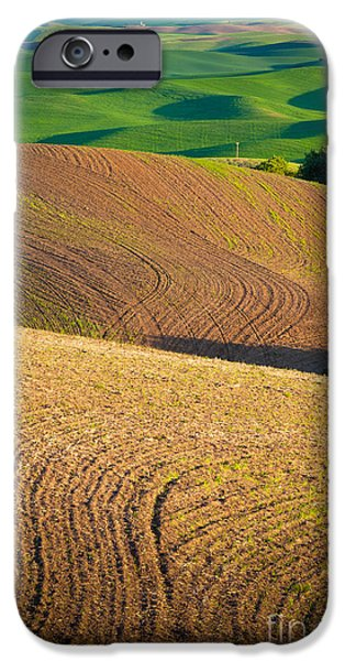 Agricultural iPhone Cases - Palouse Swirls iPhone Case by Inge Johnsson