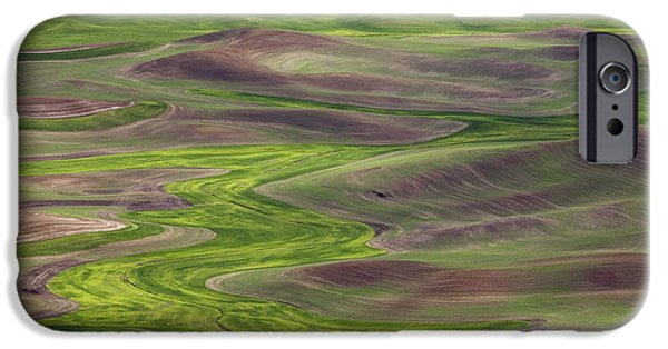 States iPhone Cases - Palouse Wheat Farming, Wa iPhone Case by Sean Bagshaw