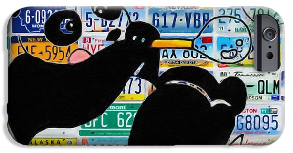 Zoological Paintings iPhone Cases - Panda iPhone Case by Lanjee Chee