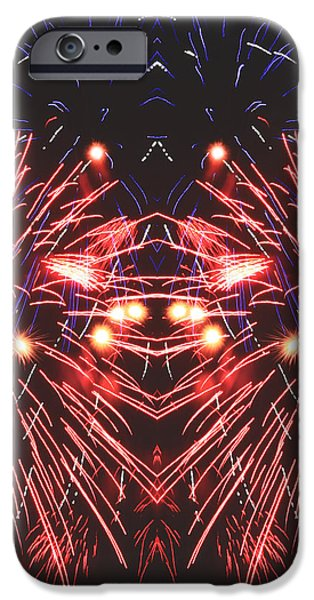 Fireworks iPhone Cases - Papio iPhone Case by Keelan Harvey