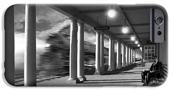 Walkway Digital iPhone Cases - Passing Through iPhone Case by Mike McGlothlen