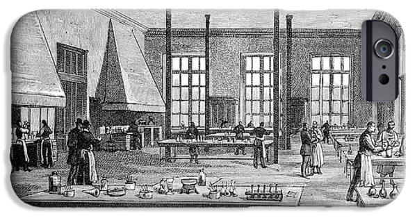 Biochemist iPhone Cases - Pasteur Institute, 19th Century iPhone Case by Spl