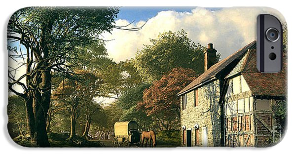Shed Digital Art iPhone Cases - Pastoral Homestead iPhone Case by Dominic Davison