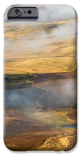 Crops iPhone Cases - Patterns of the Land iPhone Case by Mike  Dawson