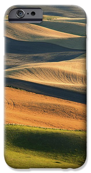 Contour Plowing iPhone Cases - Patterns of the Palouse iPhone Case by Latah Trail Foundation