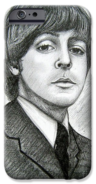 Mccartney Drawings iPhone Cases - Paul McCartney iPhone Case by Patrice Torrillo