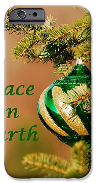 Cheer On iPhone Cases - Peace on Earth 2 iPhone Case by Francie Davis