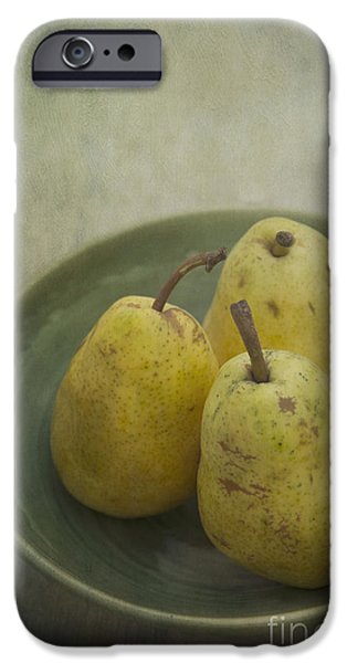 Pears iPhone Cases - Pears iPhone Case by Priska Wettstein