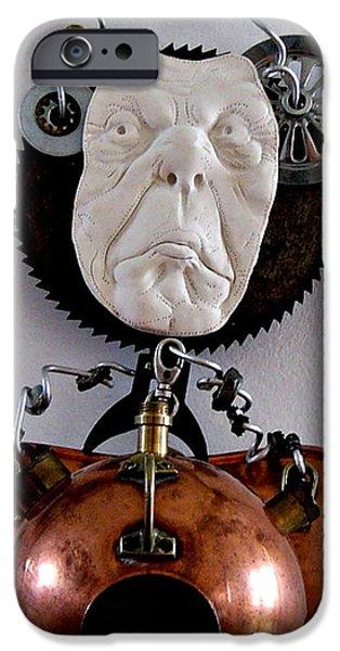 Antiques Sculptures iPhone Cases - Peek A Boo I Sea You iPhone Case by Keri Joy Colestock