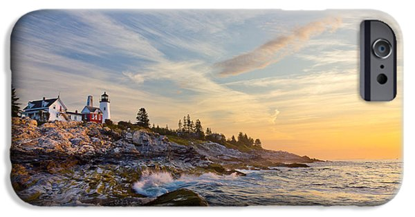 New England Lighthouse iPhone Cases - Pemaquid iPhone Case by Benjamin Williamson