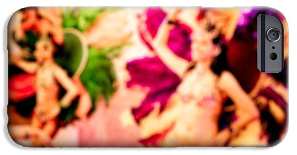 Women Together iPhone Cases - People dancing blur background iPhone Case by Nikita Buida