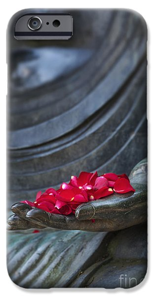 Buddhism iPhone Cases - Petals of Peace  iPhone Case by Tim Gainey