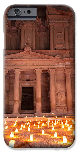 Jordan iPhone Cases - Petra by night iPhone Case by Alexey Stiop
