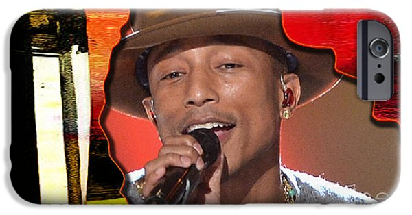 Tron iPhone Cases - Pharrell Williams iPhone Case by Marvin Blaine