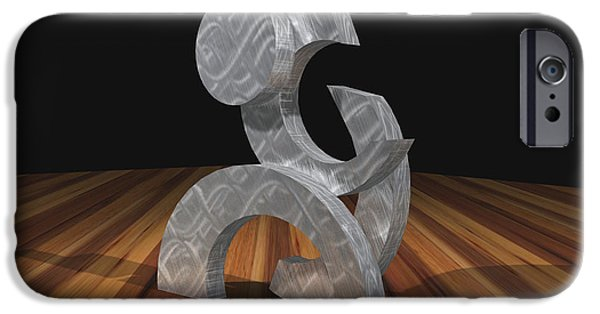 Stainless Steel Sculptures iPhone Cases - Phases iPhone Case by Peter Piatt