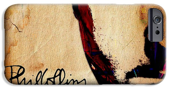 Drummer iPhone Cases - Phil Collins Collection iPhone Case by Marvin Blaine