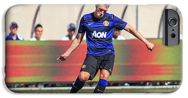 Soldier Field iPhone Cases - Phil Jones 9 iPhone Case by Keith R Crowley