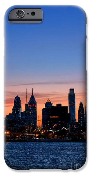 Philadelphia Dusk iPhone Case by Olivier Le Queinec
