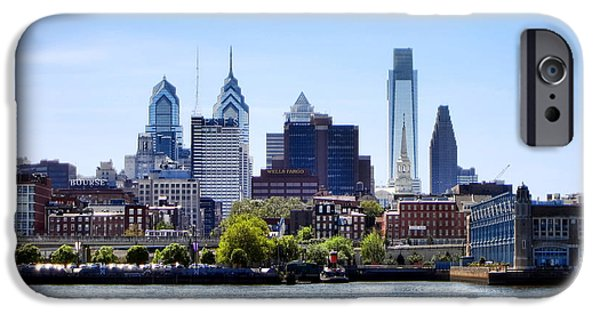 Center City iPhone Cases - Philadelphia iPhone Case by Olivier Le Queinec